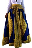 Dearlovers Beach Skirt Casual Traditional African Print Maxi Skirts Large Yellow
