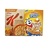 Variety Pack - Kelloggs - Frosted Flakes pumpkin spice (10oz) & Special K Pumpkin Spice (12.4oz)