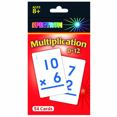 Carson Dellosa CD-734008 Spectrum Flash Cards Multiplication - 1