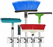Broom & Mop Holder/organizer, 5 Slots Organizers, Wall (1)