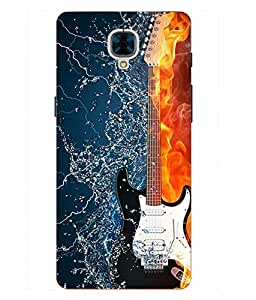 Case Cover Guitar Printed Blue Hard Back Cover For OnePlus 3