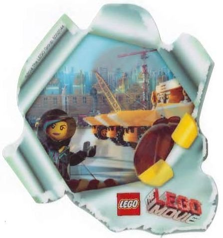 LEGO The Movie Accessory: Emmet & Wildstyle 3D Hologram Card Sticker