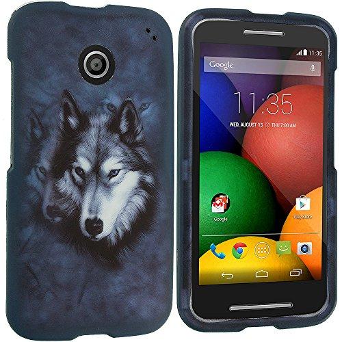 Accessory Planet(Tm) Wolf 2D Hard Snap-On Design Rubberized Case Cover Accessory For Motorola Moto E