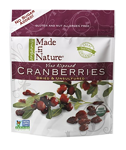 Made in Nature Organic Unsulfured Dried Cranberries, 24-ounces, Apple Juice Sweetened; Kosher