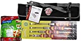 3-Piece BBQ Tool Set with Quirky Metal Sliders Plus Covermate Stretch-to-fit Food Covers