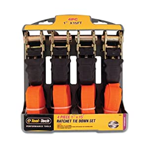 Tool Tech Ratchet Tie Down Set (4 Pieces) (discontinued by manufacturer)