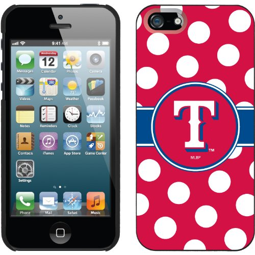 Special Sale Texas Rangers - Polka Dots design on a Black iPhone 5s / 5 Thinshield Snap-On Case by Coveroo