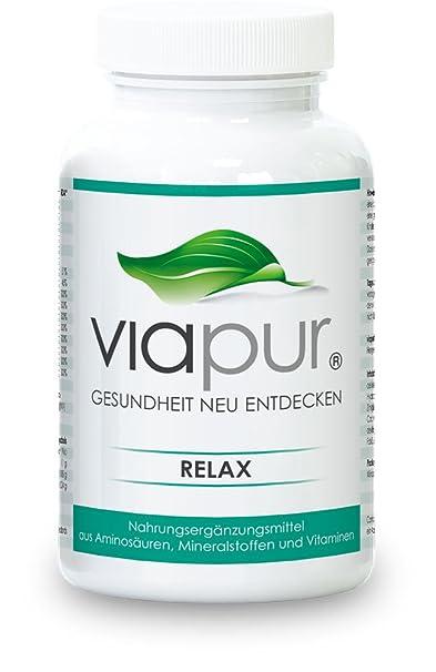 viapur® RELAX - 120 Kapseln, Aminosäuren, Mineralstoffe und Vitamine