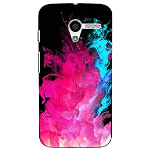 Jugaaduu Colourful Smoke Back Cover Case For Moto X (1st Gen)
