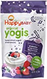 Happy Baby Organic Yogis Freeze-Dried Yogurt & Fruit Snacks, Mixed Berry, 1-Ounce Pouches (Pack of 8)