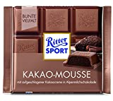 Ritter Sport Kakao (Cocoa) Mousse in Alpine Milk Chocolate - Pack of 3