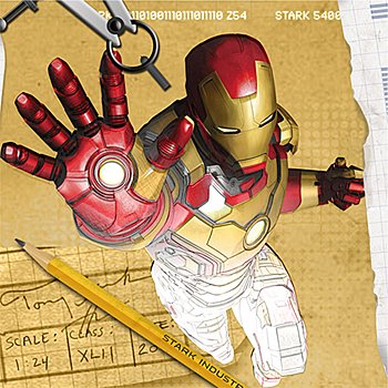 Iron Man Party Supplies - Iron Man Beverage Napkins - 16 Count - 1