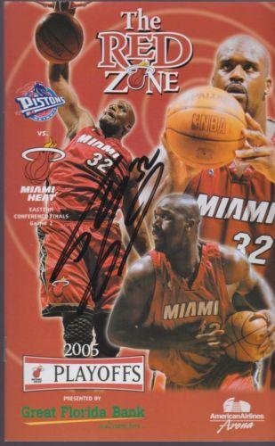 SHAQUILLE O'NEAL Signed MIAMI HEAT Game PROGRAM vs Pistons - 05 East Finals Gm 2 - NBA Autographed Miscellaneous Items
