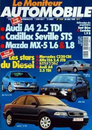 moniteur-automobile-le-no-1160-du-28-05-1998-essais-audi-a4-tdi-cadillac-seville-sts-mazda-mx-seat-i