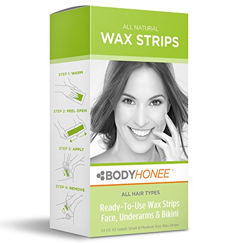 Hair Removal Wax Strips Face, Underarms & Bikini, 24 Count (Face Wax For Women compare prices)