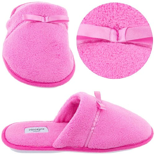 Cheap Pink Slip On Slippers with Bow for Women (B004F1L41O)