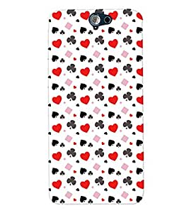 PrintVisa Corporate Print & Pattern Card Suits 3D Hard Polycarbonate Designer Back Case Cover for HTC One A9