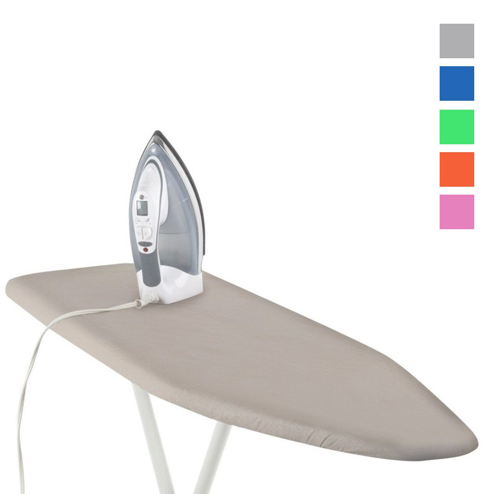 "1 Deluxe Ironing Board Cover Pad Scorch Heat Resistant Coated 54"" Ast Color New"