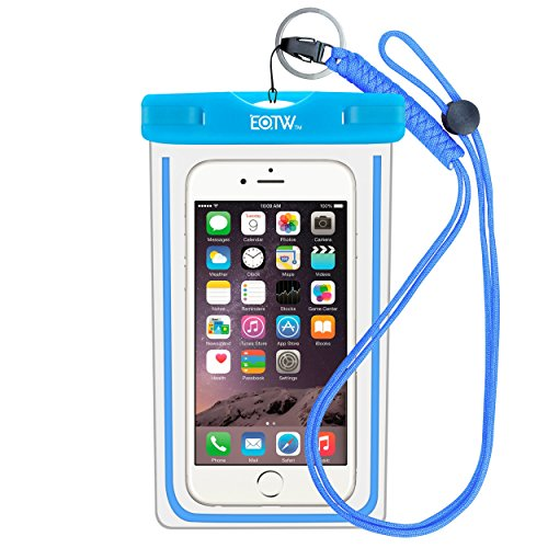 EOTW Waterproof Cell Phone Case Pouch Pocket Dry Bag with Military Class Lanyard For Diving Surfing Skiing, Fits iPhone 6 6S Plus 5 5S 5C SE, Galaxy S4 S5 S6 S7 Edge, Blu LG Motorola NOKIA HTC - Blue (Cell Phone Accessories Cases compare prices)