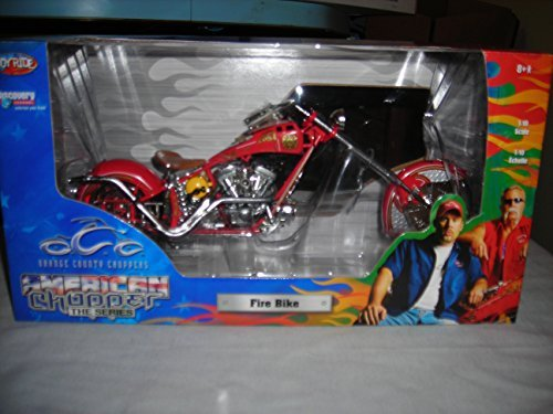 OCC ORANGE COUNTY CHOPPERS AMERICAN CHOPPER THE SERIES RED FIRE BIKE CUSTOM CHOPPER 1:10 DIECAST