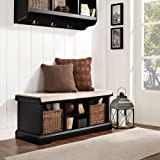 Crosley Brennan Entryway Storage Bench in Black