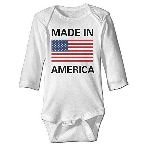 [Made In America Flag Cute Boy And Girl Infants Romper Jumpsuit 18 Months White] (Dances With Wolves Costumes Designer)