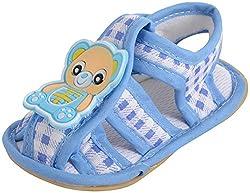WonderKart Unisex Babies Sky Blue Cotton Booties - 0 - 6 Months