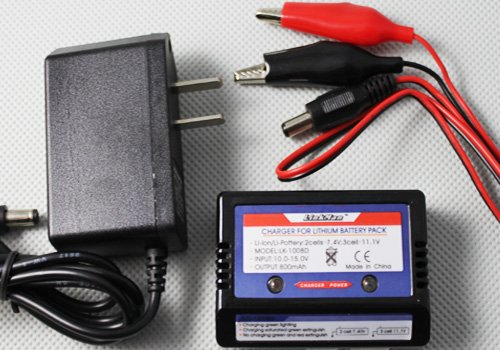 Lipo Battery Balance Charger 2-3S 7.4v-11.1v with AC Switch Adapter