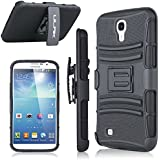 Samsung Galaxy Mega 6.3 Case - ULAK Heavy Duty Shockproof Dual Layer Holster Case for Samsung Galaxy Mega 6.3, GT-I9200 I9205 with Kickstand and Locking Belt Swivel Clip (Black)