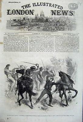 1861 の内戦アメリカの竜騎兵のゲリラの騎手の人