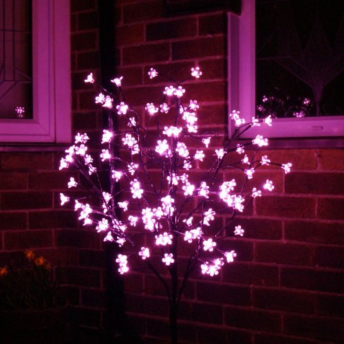 Outdoor Pink Led Blossom Tree, 1.2 Metre