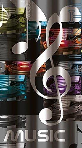 Musik-180-x-200-cm-Dusche-Vorhang-12-Haken