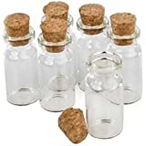 Small Transparent Mini Glass Jars with Cork Stoppers