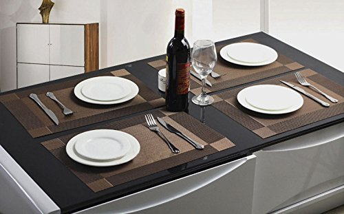 Non slip insulation placemat decaral dinning table mats pvc insulated pad dining room placemats - Dining room table mats ...