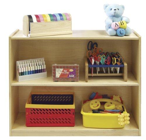 Ecr4Kids Birch 2 Shelf Storage Cabinet With Back, Natural front-1013680