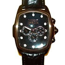 Invicta 1789 Lupah Special Edition Mens Mother of Pearl Rosetone Leather Watch