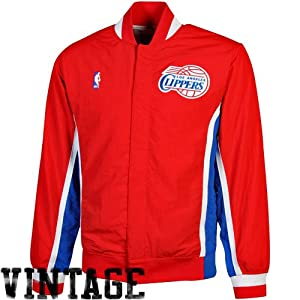 NBA Mitchell & Ness Los Angeles Clippers Authentic Vintage Warm-Up Jacket - Red by Mitchell & Ness