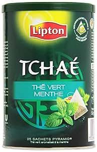 Lipton Tchaé Thé vert menthé 25 sachets - Lot de 3