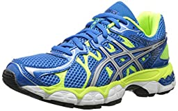 Asics Gel-Nimbus 16 GS Running Shoe (Little Kid/Big Kid),Island Blue/Lightning/Lime,4.5 M US Big Kid