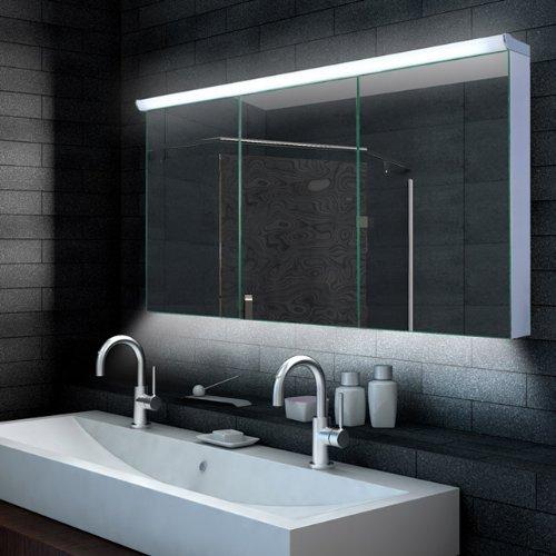 spiegelschrank mit beleuchtung fur badezimmer verschiedene ideen f r die. Black Bedroom Furniture Sets. Home Design Ideas