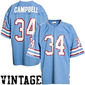Mitchell & Ness Houston Oilers 1980 Earl Campbell Authentic Throwback Jersey Size: Size 56