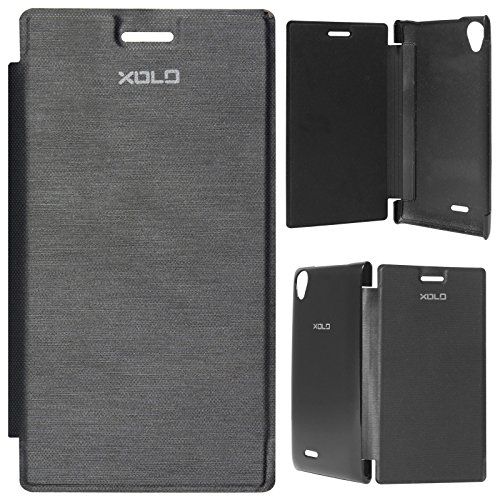 DMG Premium Flip Book Cover Case for XOLO One Android Mobile (Black)