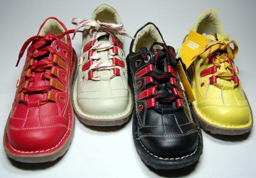 Damen Leder Schuh von TMA EYES Rot Gelb Weiß Schwarz Beige Grün Sport Schuhe echt Leder Halbschuhe Hotsport