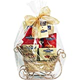 Ghirardelli Gold Glitter Sleigh Holiday Gift Set