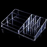 Anleolife Acrylic Makeup Organizer Earring Storage Box/ Multipurpose Storage Box For Jewelries Nail Polish Kits...
