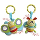 Little Bird Told Me - Breezy Butterfly and Burble Bee Rattle and Squeak Set
