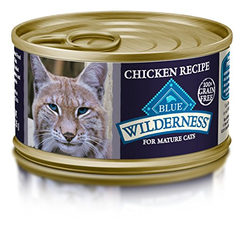 Blue Buffalo Wilderness Mature Recipe Canned Cat Food, Blue