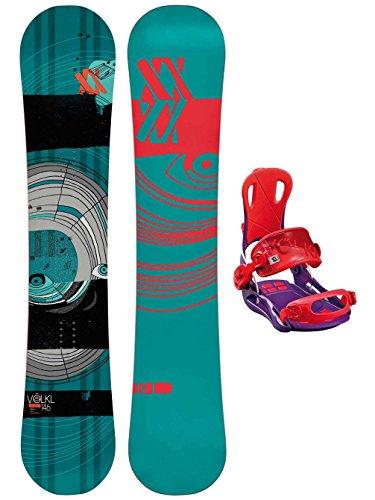 Damen Snowboard Set Völkl Disturbia 149 + Fastec Vision M Purple 2016