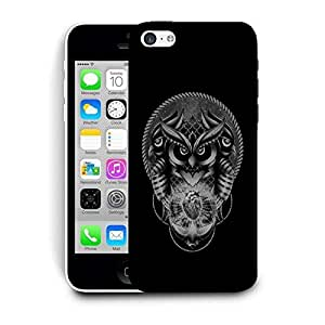 Snoogg Triple Face Owl With Heart Designer Protective Back Case Cover For IPHONE 5C