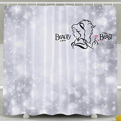 Memoy Beauty Together With Beast Mildew Resistant Bathroom Shower Curtain For Home Traval Hotel With Hooks 7278inch (Cook The Turbo Way compare prices)